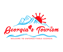 Georgias Tourism Logo painted in red and blue colors